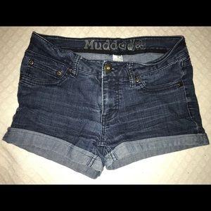 "Dark Blue Jean ""Mudd"" Shorts Size 5"